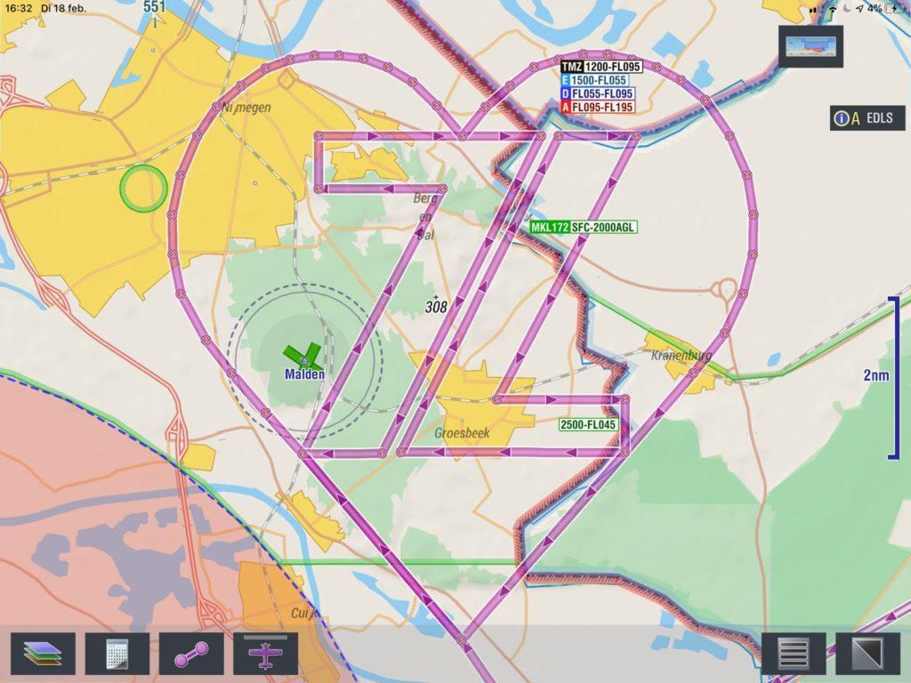 Zeven voor leven route in de GPS